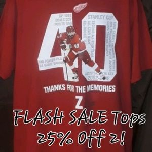 Detroit Red wings 40 Thanks Z Memories Graphic Tee